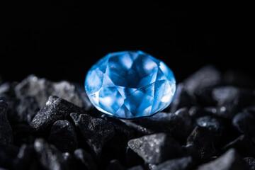 One blue big diamond