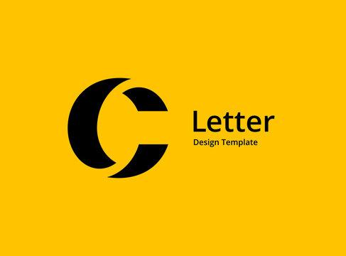 Letter C logo icon design template elements