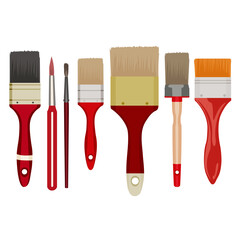 Paint brushes isolated on white vector work, good coloring