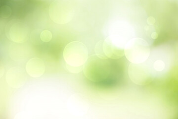 Wall Mural - Green bokeh abstract background blur