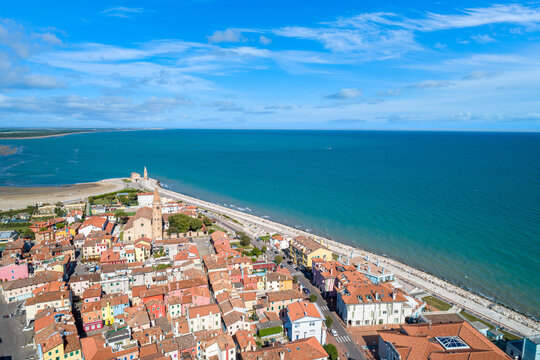 City of Caorle seen from above
