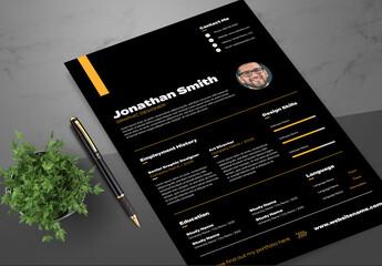 Graphic Designer Resume Layout