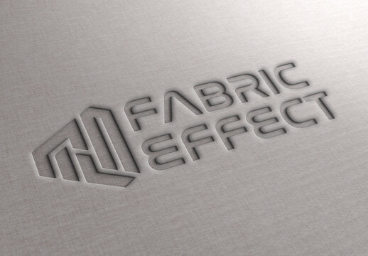Debossed Text Effect on Fabric Texture Mockup