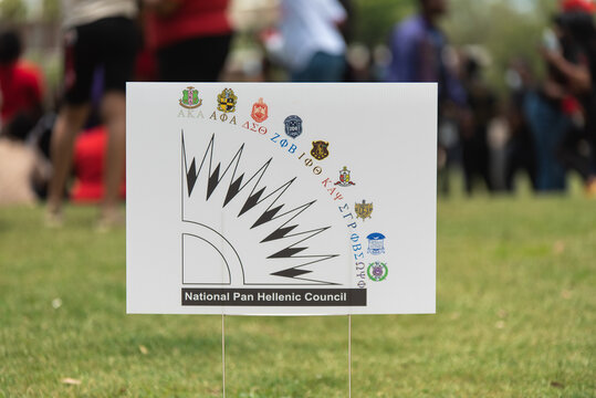 National Pan Hellenic Council (NPHC) Sign at the Black Lives Matter Protest in Tampa, Florida. NPHC is a Nine Black Fraternity and Sorority Collaboration
