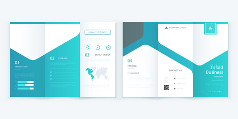 Professional Trifold brochure template design. Business Trifold brochure template.Modern Simple trifold brochure template. Abstract Trifold brochure vector template.Colorful brochure