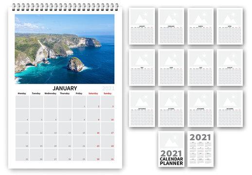 2021 Simple Calendar Planner Layout