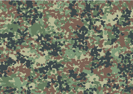 Military and hunting camouflage 'splotchy' seamless pattern. Five colors. Very effective in the natural environment.