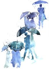 Papiers peints Peintures rain