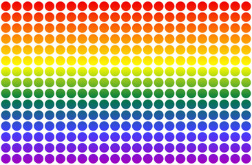 LGBT flag in the form of circles in rainbow colors. Template design, vector illustration. Gay pride textile background. Stock vector illustration
