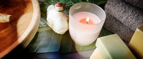 Beauty and spa with natural soaps