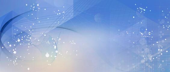 netzwerk linien punkte verlauf partikel banner