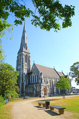 St. Alban's Church, or known as the English Church in beautiful grounds surrounded by trees and a city center landmark. It is an Anglican church in Copenhagen, Denmark.