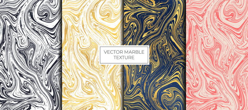 Gold and white marble vector design. Marbling Texture design.