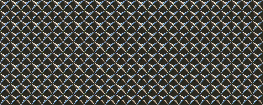 3d material star shaped iron armor pattern