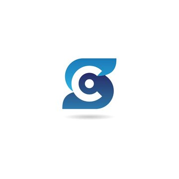 initial c with letter s logo design vector, icon, element, template