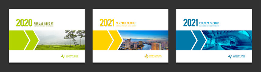 Fototapeten Grau Verkehrs Cover design for annual report business catalog company profile brochure magazine flyer booklet poster banner. A4 landscape template design element cover vector.