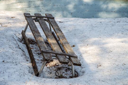Abandoned sled