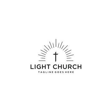 Modern church logo sign modern vector graphic abstract