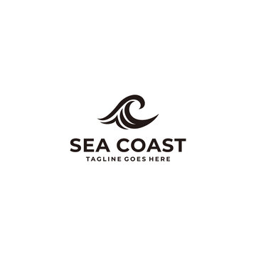 Illustration of a beautiful abstract wave logo design