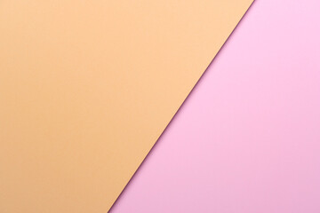 Pastel orange and pink paper color for background.