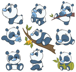 Photo Blinds Baby room Illustration of a Cute Cartoon Character Panda for you Design and Computer Game