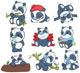 Tuinposter Babykamer Illustration of a Cute Cartoon Character Panda for you Design and Computer Game
