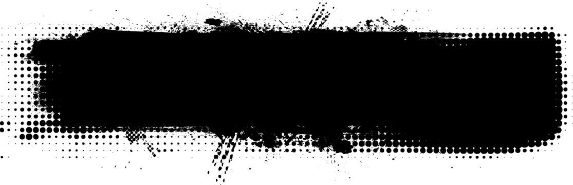 Vector Grunge Elements Set . Halftones , Corners , Splats , Brush Strokes , Textures and Ink Blots for your Design .