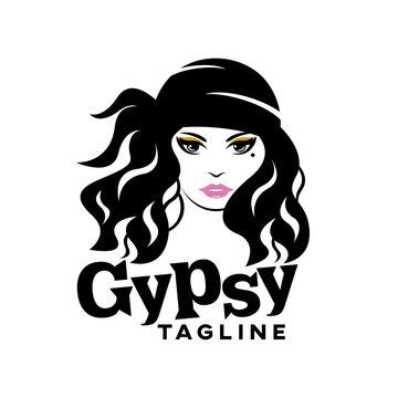 Modern beautiful gypsy logo.Vector illustration.