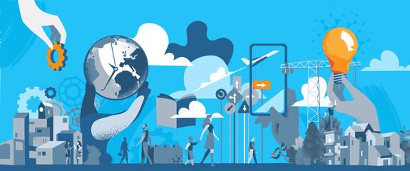 Costruzione, Innovazione e Futuro Sostenibile della Società Moderna