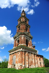 Ancient Kazan church in Kurva village, Yaroslavl, Russia
