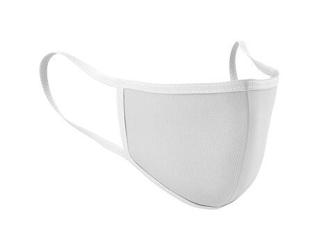 White Face Mask Mockup, Blank dust mask 3d rendering isolated on white background