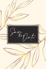 Foto op Plexiglas Retro sign rose gold marble design