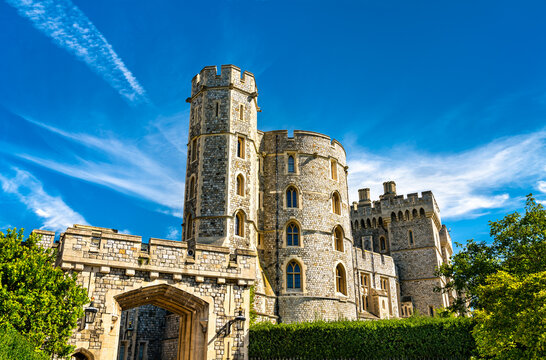 St. George's Gate with King Edward III Tower at Windsor Castle in England