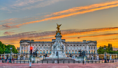 The Victoria Memorial and Buckingham Palace in London, England