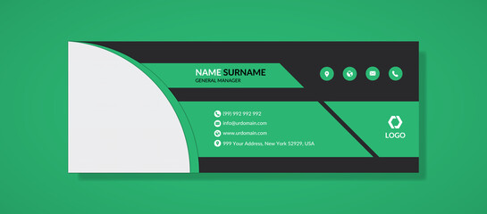 modern minimal business email signature template