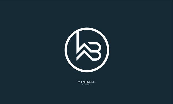 Alphabet letter icon logo WB