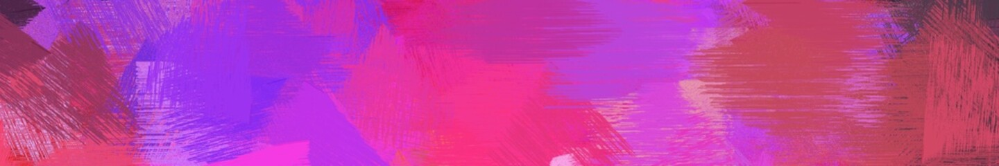 Spoed Foto op Canvas Roze wide landscape graphic with creative brush strokes background with mulberry , moderate pink and medium orchid. can be used for background, canvas or poster