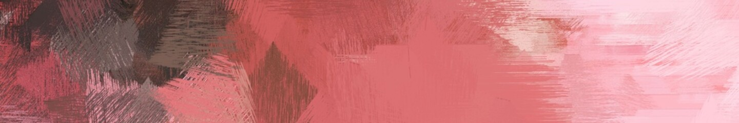 Fotobehang Lichtroze wide landscape graphic with creative brush strokes background with indian red, old mauve and pink