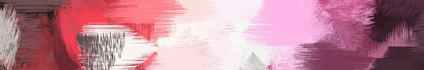 Poster Crimson wide landscape graphic with dirty brush strokes background with old mauve, dark moderate pink and pastel pink. can be used for background, canvas or poster