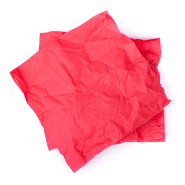 Wrinkled paper napkin