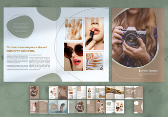 Multipurpose Magazine Layout with Brown Accents