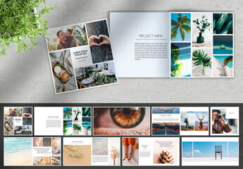 Minimal Square Photography Portfolio Brochure Layout