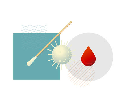 PCR Vs Serologic Testing for COVID-19 - Illustration