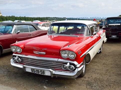 Wheels Classic Motor Meet in Haparand, Sweden. Chevrolet Bel Air