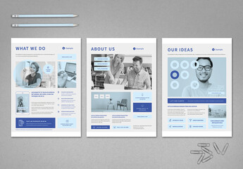 Light Blue and Gray Business Flyer Layout