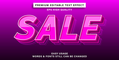 Wall Mural - editable text effect sale