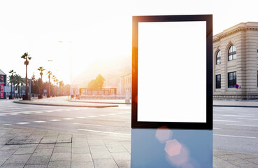 Blank billboard with copy space for your text message or content, outdoors advertising mock up,...