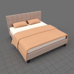 Modern double bed 2