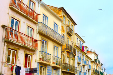 Old Town street, Lisbon, Portugal