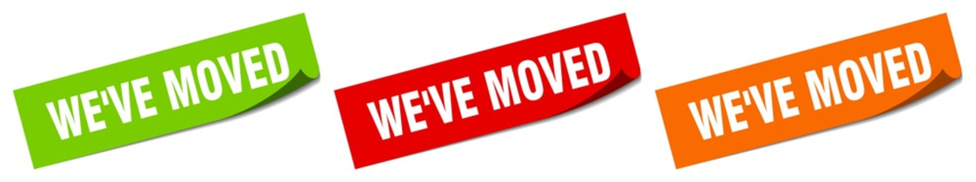 we've moved sticker. we've moved square isolated sign. we've moved label